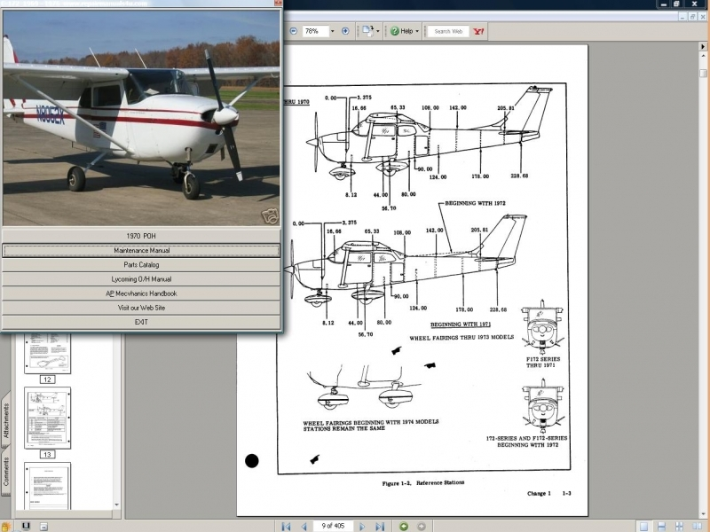 Download Cessna Maintenance Manual, Service, Manual, Instant Downlo