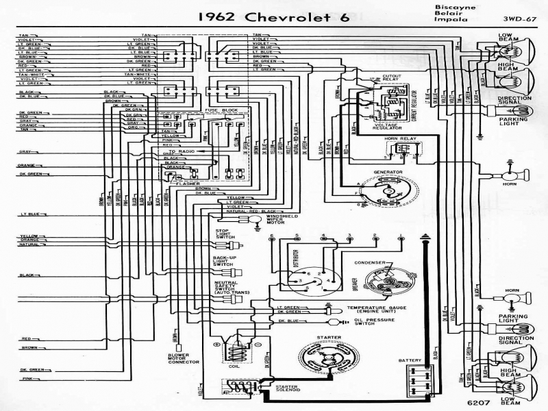 Electrical Wiring Diagram Of 1962 Chevrolet 6 | All About Wiring