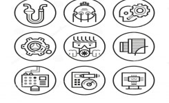 Engineering Icons Stock Vector – Image: 49545960