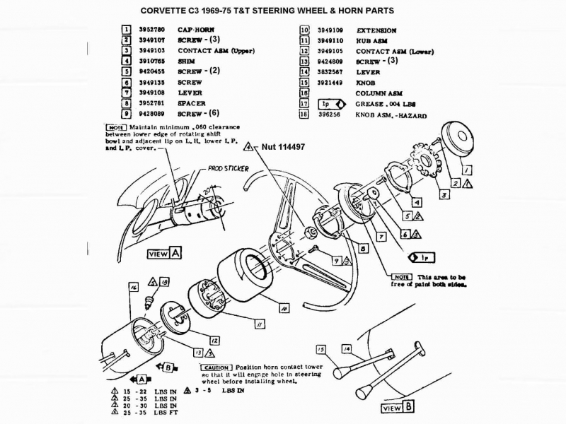 Gm Tilt Steering Column Wiring Diagram on 1976 Chevy Corvette Wiring Diagram