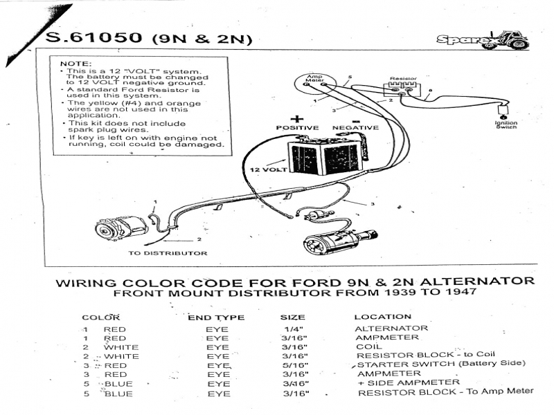 Ford 8N Tractor Distributor Diagram  Wiring Forums