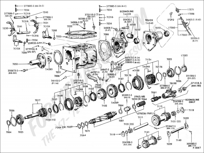 Ford Truck Technical Drawings And Schematics - Section G