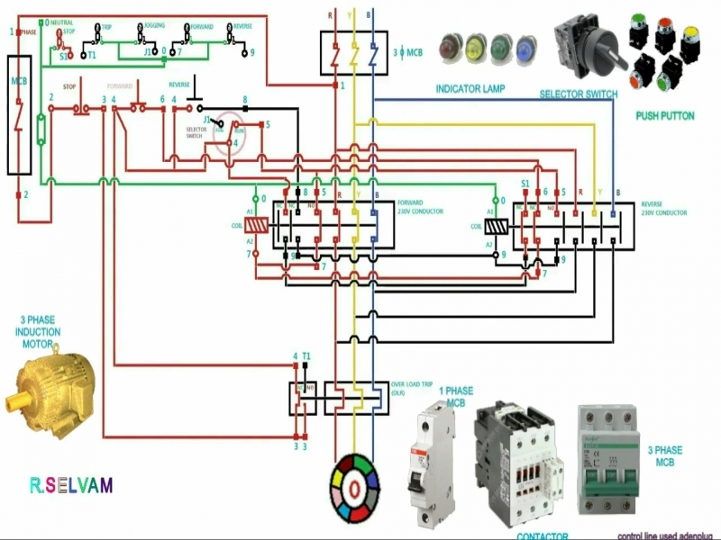Single Phase Motor Forward Reverse Wiring Diagram Pdf from i2.wp.com