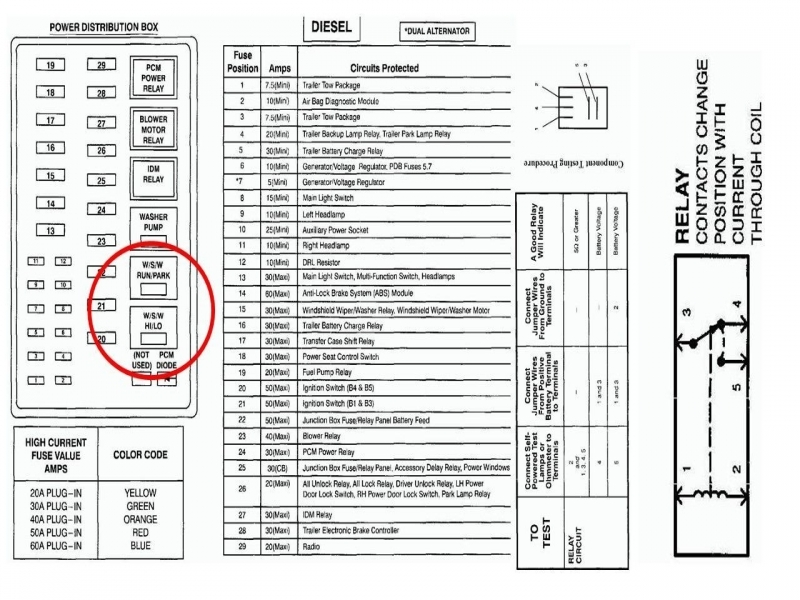 2003 Ford F 250 6 0 Diseal Fuse Box Diagram