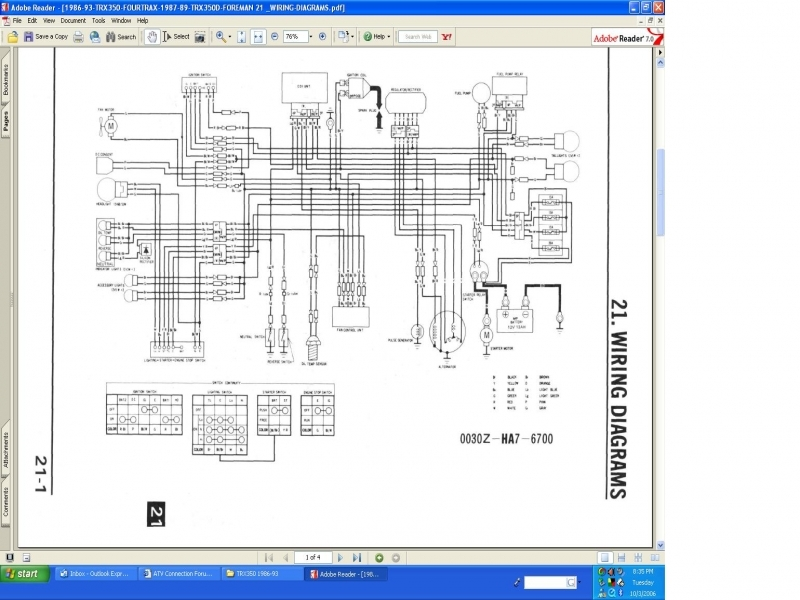 Wiring Diagram 2006 Honda 500 Foreman - Wiring Forums