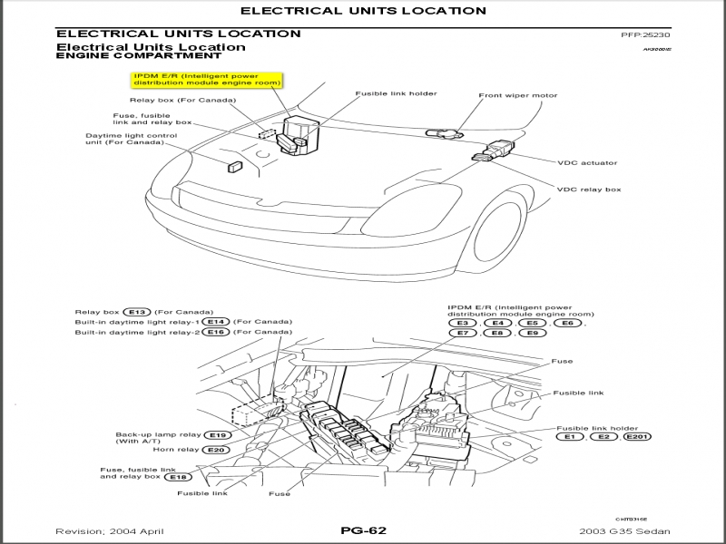 2003 Infiniti I35 Fuse Box Diagram  Wiring Forums