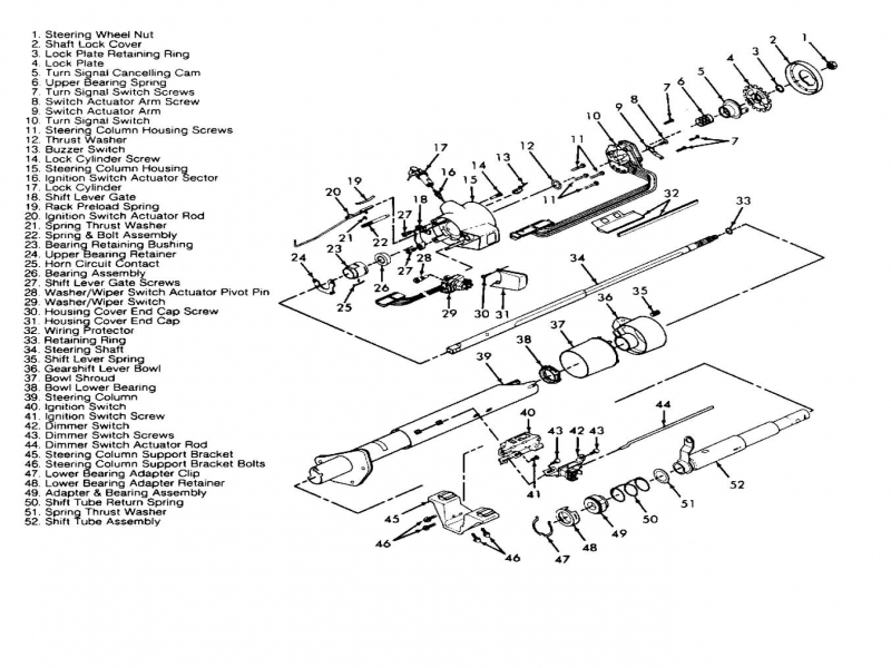 1994 Chevy 2500 Truck Steering Column Diagram  Wiring Forums
