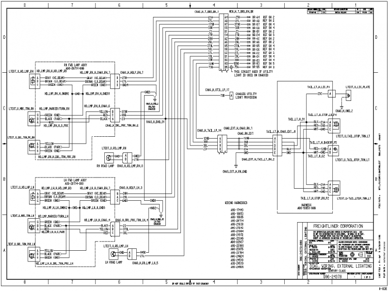 1989 Freightliner Headlight Wiring Diagram