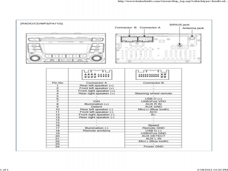 Kia Amanti Infinity Stereo Wiring Diagram  Wiring Forums
