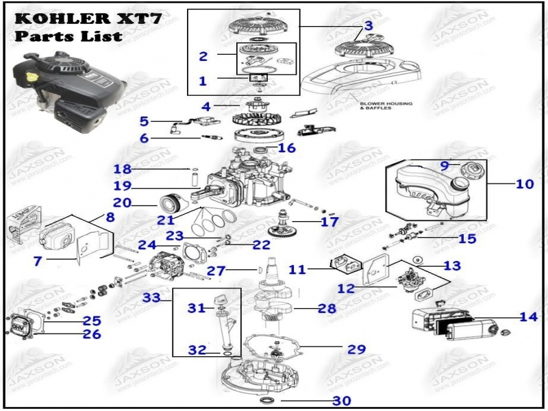 16hp Kohler Engine Parts Diagram