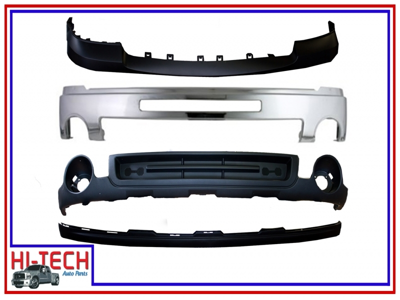 New 07 08 09 10 11 12 13 Gmc Sierra Chrome Front Bumper W Upper