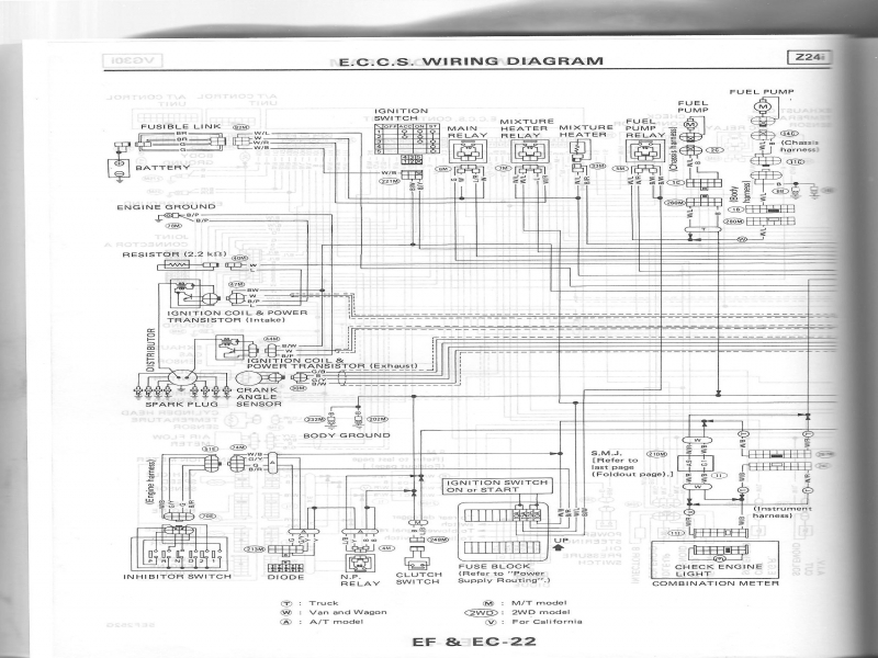 1995 Nissan Pick Up Headlight Wiring Diagram