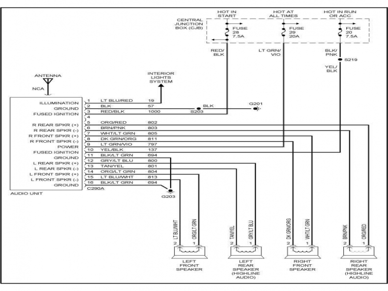 2000 Ford Ranger Radio Wiring Diagram  Wiring Forums