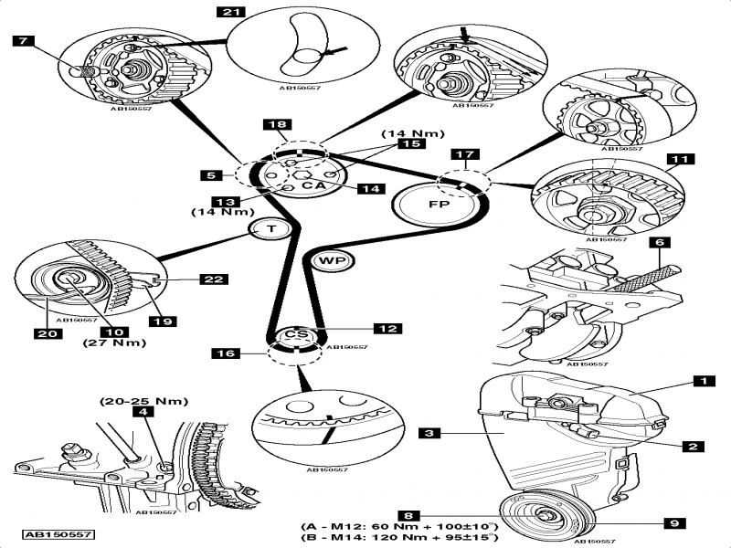 nissan timing belt replacement diagram
