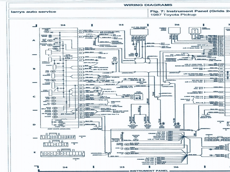 1989 Toyota Pickup Stereo Wiring Diagram free download wiring