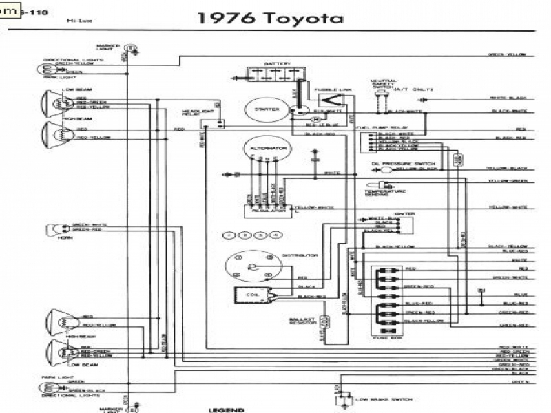 1994 Toyota Pickup Radio Wiring Diagram  Wiring Forums