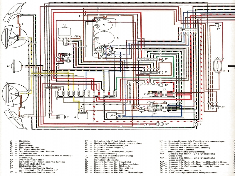 electrical wiring diagram for a 1965 vw beetle wiring forums Bus Drawing  Bus Breaks Down School Bus Dimensions School Bus Seat Layout