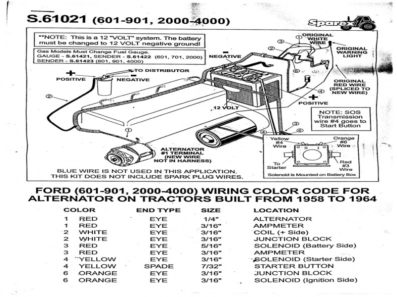 53 ford naa wiring diagram 12v ford tractor electrical