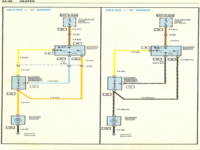 1979 El Camino Heater Controls Wiring Diagram