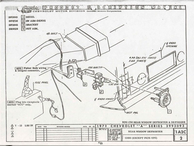 1966 Chevelle Dash Wiring Diagram