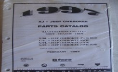 1997 Jeep Cherokee (Xj) Mopar Factory Parts Catalog Chassis Body