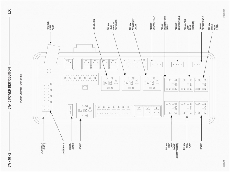2006 Dodge Charger Fuse Box Diagram