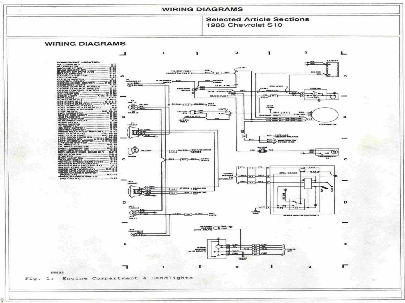 1999 Chevy S10 Engine Diagram  Wiring Forums