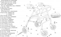 Go-Lite Bariatric Steel Rollator Replacement Parts | Parts For