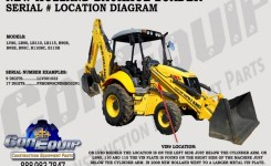 Serial Number Location For Your New Holland Backhoe