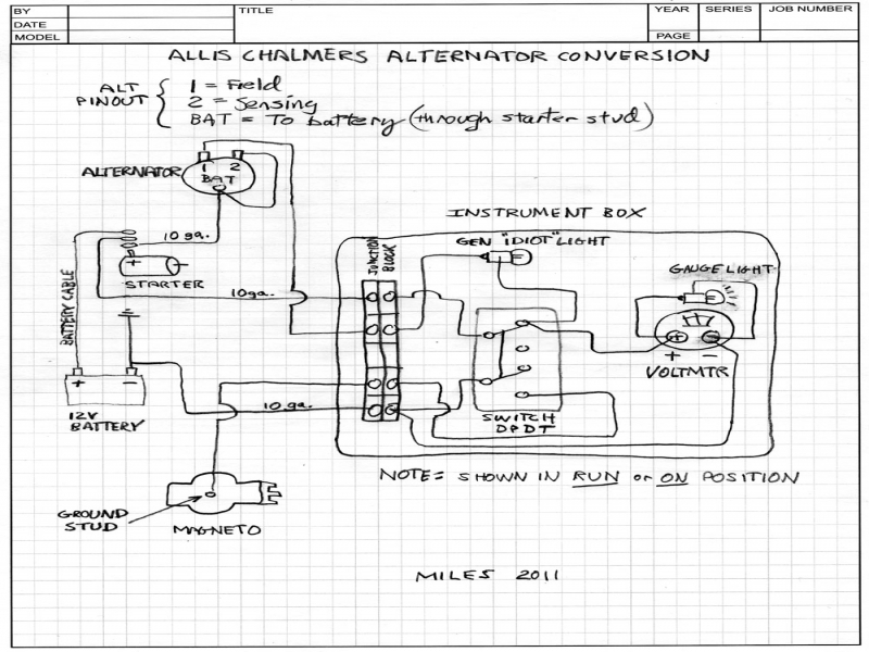 Allis Chalmers D 19 Wiring Diagram