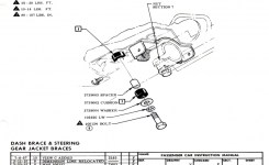 Much More Bel Air, Nomad, Impala, Chevy Steering Column Bracket To Dash Images