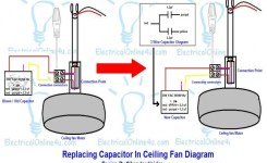 Replacing Capacitor In Ceiling Fan With Diagrams | Electrical Online 4U