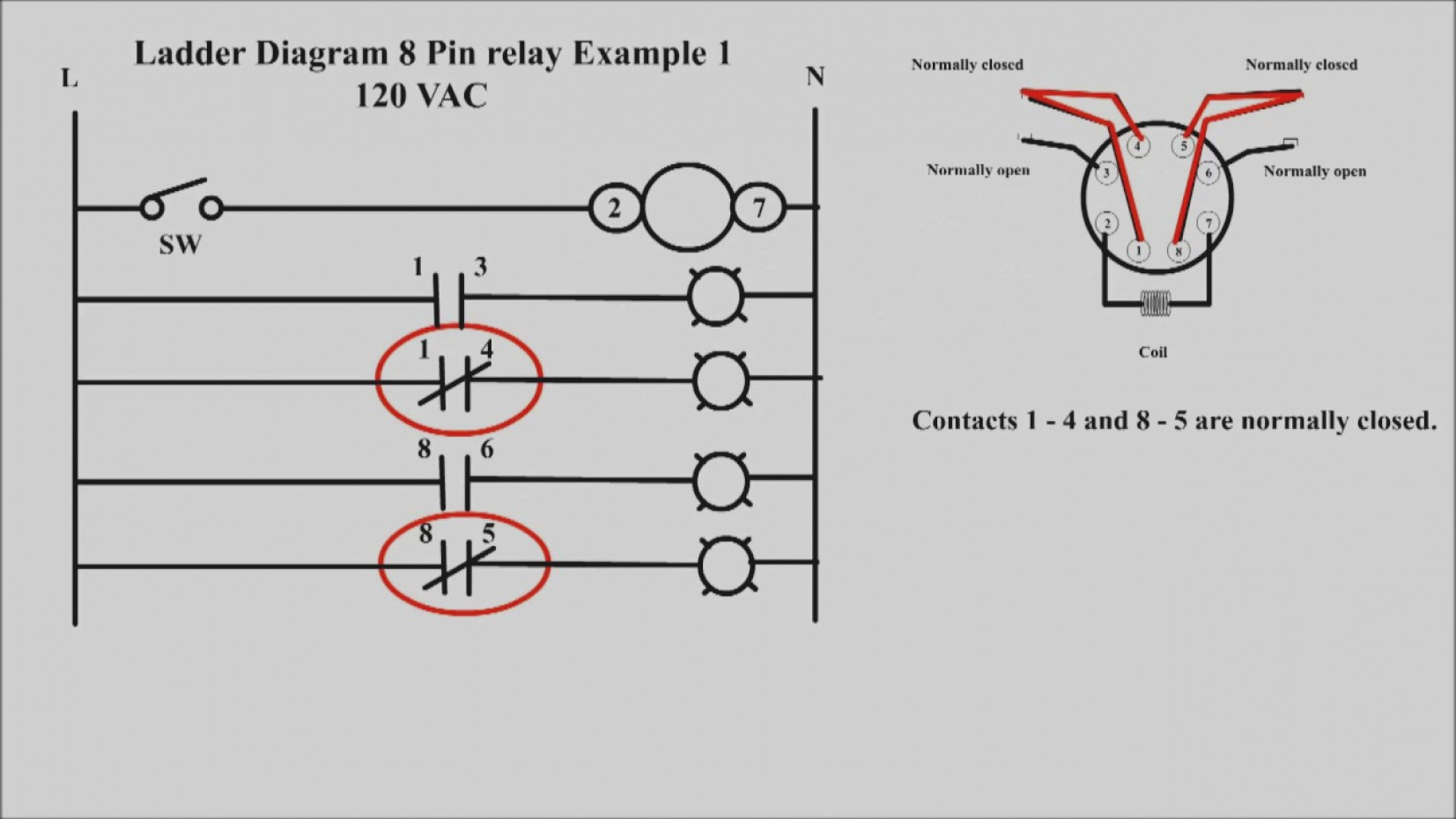 8 Pin 120 Volt Relay Wiring Diagram