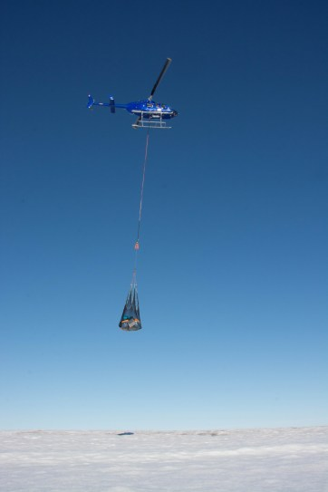 Sling load of a Milne Ice Shelf camp move.