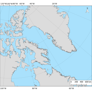 A map of the ice islands from the 2008 Petermann Glacier calving event. On July 13, 2008, a 36.7 km2 of ice calved from the Petermann Glaicer, northwest Greenland. By July, 2009 all the ice islands produced had broken into fragments too small to detect. 332 polygons were digitized from 177 images to document this event. Note that satellite imagery was less frequent in September and October 2008.