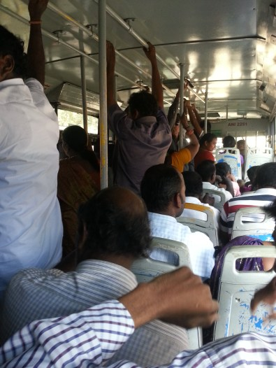 On a bus in Chennai