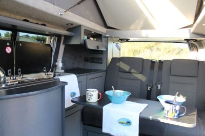 Wirral Campervan Hire - dining area
