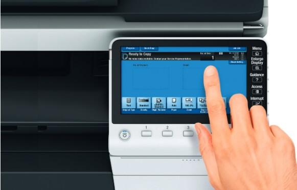 Konica Minolta bizhub 754e touch screen