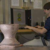 NASA 3D Printer Copper Rocket Part