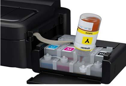 Epson L Series refillable ink tanks.