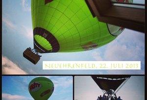 Heißluftballon über Ehrenfeld