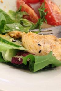 Salat mit Hühnchen