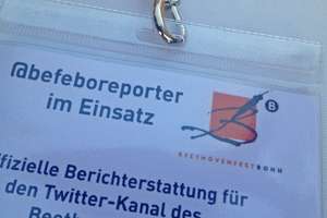 Ausweis: Twitter-Reporter im Einsatz