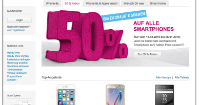 Screenshot t-mobile.de