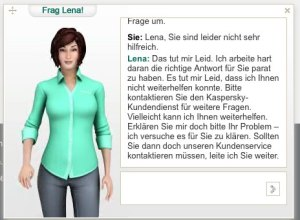 Lena entschuldigt sich