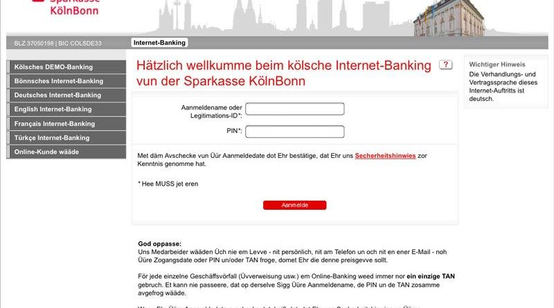 Onlinebanking op kölsch