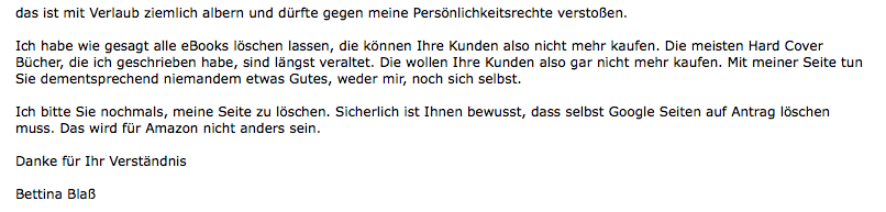 Kommunikation mit Amazon