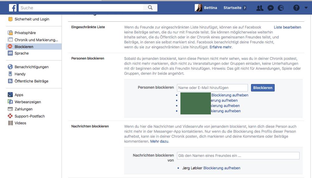 Personen Blockieren Facebook