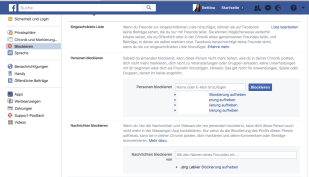 Facebook: Personen blockieren