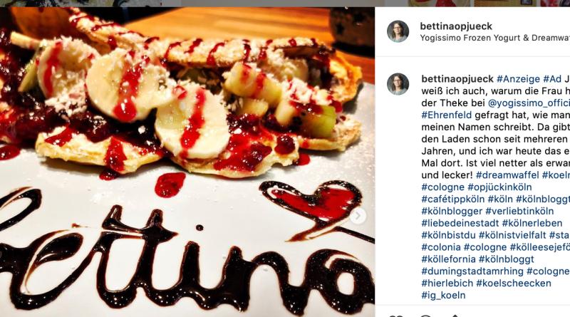 Instagram-Post gegen Vergünstigung